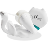Scotch Refillable White Kitty Dispenser with Magic Tape