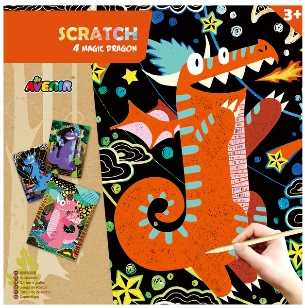 Avenir Scratch Art Kit - Magic Dragon