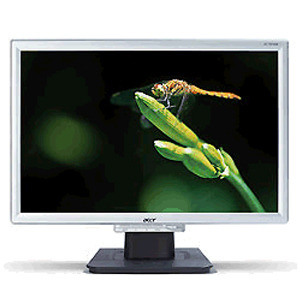 """Acer AL1916W 19"""" Widescreen LCD Monitor Silver 8ms Response Rate"""