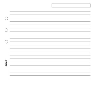 Filofax - A5 Lined Notepaper - White (25 Sheets) image