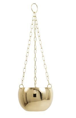 General Eclectic Hanging Planter - Brass image