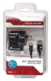 3DS AC Adaptor with USB port for Nintendo 3DS