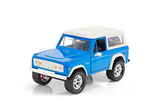 Jada: 1/24 1973 Ford Bronco Diecast Model (Blue/White)