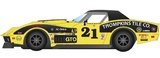 Scalextric: Chevrolet Corvette Stingray L88 #21 - Slot Car