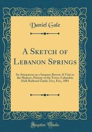 A Sketch of Lebanon Springs by Daniel Gale image