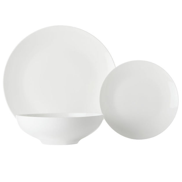 Maxwell & Williams White Basics Tribeca Coupe Dinner Set