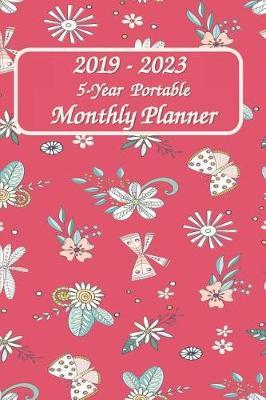 2019 - 2023 5-Year Portable Monthly Planner 6x9 by Rock Planner