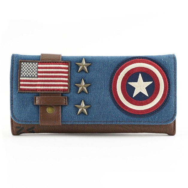 Loungefly Marvel Captain America Canvas Trifold Wallet