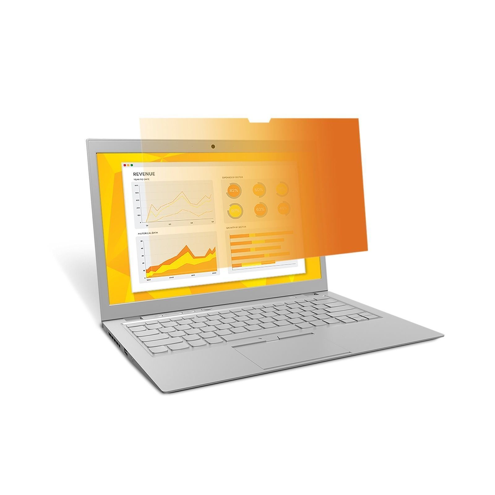 """3M GPF1409B 14"""" 16:9 Laptop Gold Privacy Screen Filter image"""