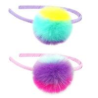 Pink Poppy: Fluffy Pom Pom Multi-Colour Headband - (Assorted Colours)