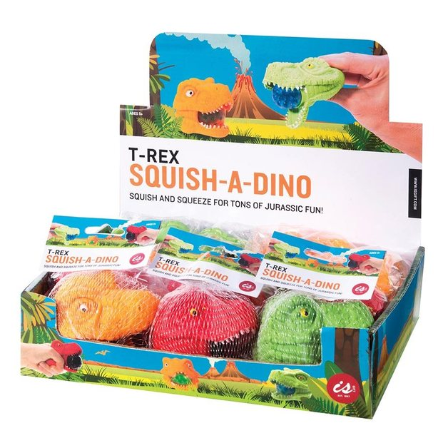 IS Gifts: Squish-A-Dino – T-Rex Head (Assorted Designs)