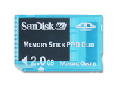SanDisk 2GB MS Pro Duo Gaming Memory Card image