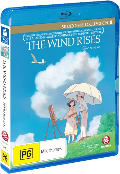 The Wind Rises on Blu-ray