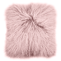 Bambury Mongolian Lambs Wool Cushion (Blush)