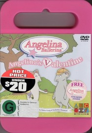 Angelina Ballerina:  Angelina's Valentine on DVD image