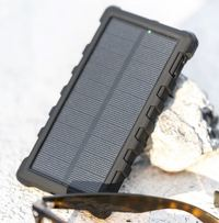 SunSaver 10,000mAh Solar Power Bank with USB-C