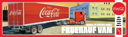 AMT: 1/25 Fruehauf Beaded Van Semi Trailer (Coca- Cola) - Model Kit