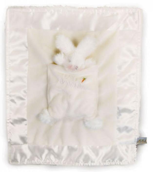 Bunnies By The Bay: White Bunny Lulla Bunny Bye Blanket
