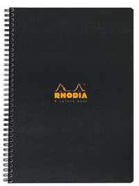 Rhodia 4 Cols Lined Notebook 22.5x29.7cm-Black