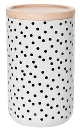 General Eclectic Tall Canister - Black Spot