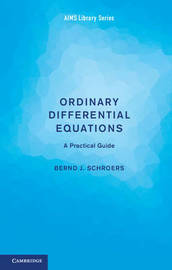 Ordinary Differential Equations by Bernd J. Schroers