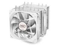 Deepcool Neptwin cooler with 6 heatpipes and Dual LED PWM fan White