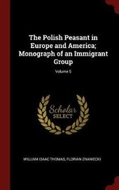 The Polish Peasant in Europe and America; Monograph of an Immigrant Group; Volume 5 by William Isaac Thomas image