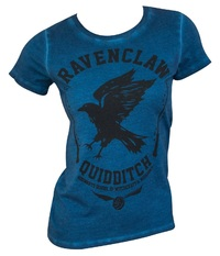Harry Potter: Raven Claw (Oil Washed) - Juniors T-Shirt (Small)