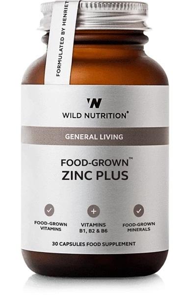 Wild Nutrition Food Grown Zinc Plus (30 Caps)