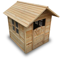 Gorilla: Wooden Cubby Playhouse - Paint Your Own