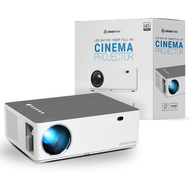 Smart LED Native 1080p Full HD Cinema Projector - Scolecite White