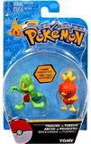 Pokémon: Action Pose Treecko vs. Torchic - Figure 2-Pack