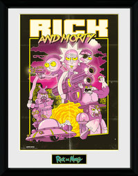 Rick and Morty: Action Movie - Framed Print