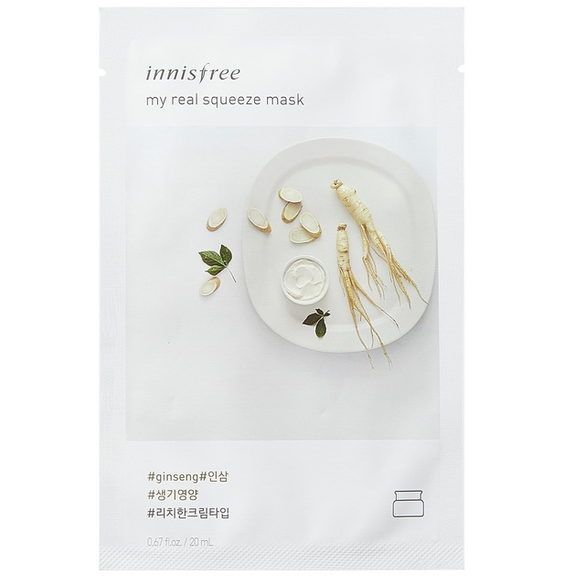 Innisfree - My Real Squeeze Sheet Mask - Ginseng (20ml)