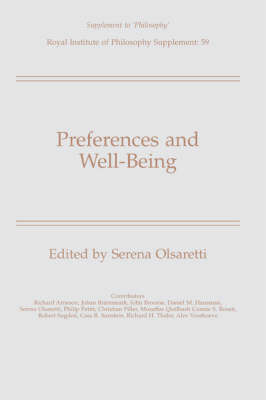 Preferences and Well-Being