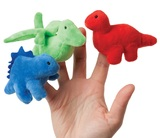 Manhattan Finger Puppet: Dynamic Dinos - Blue