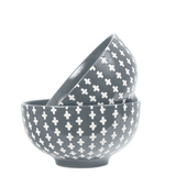 General Eclectic Cross Dip Bowl - Grey
