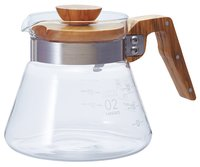 Hario: V60 Glass Coffee Server 02 - Olive Wood (600ml)