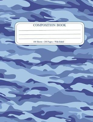 Blue Camo Composition Notebook by Blue Camo by Dofthec