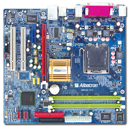Albatron Motherboard PM915G PRO P4 VGA+SATA+LAN+5.1SND