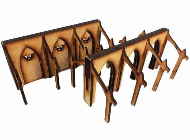 TTCombat: Tabletop Scenics - Large Walls (x2)