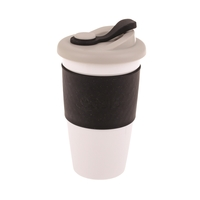 Oasis Plastic Coffee Cup - Black (454ml)