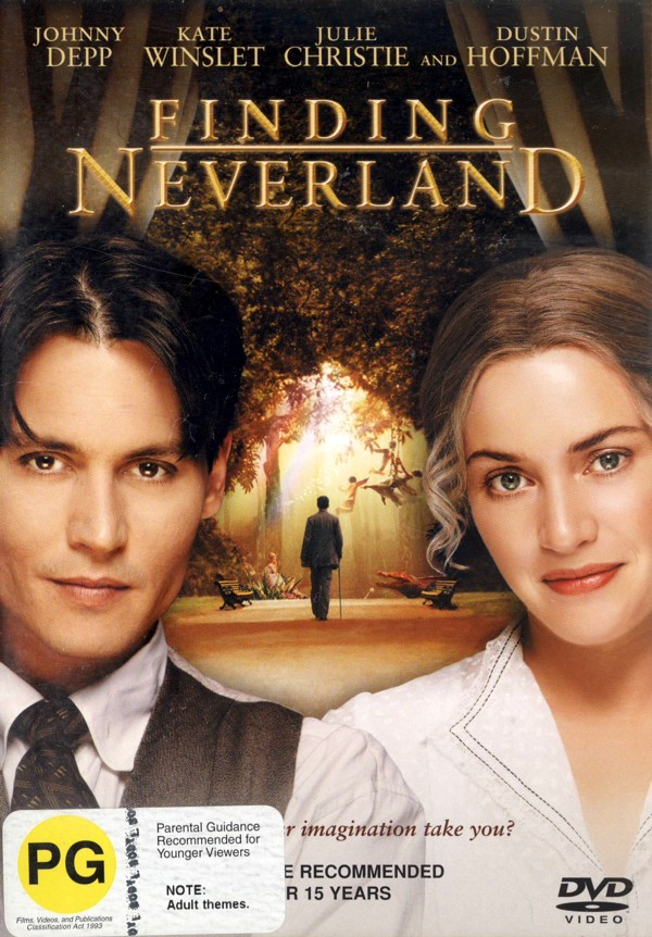 Finding Neverland on DVD image