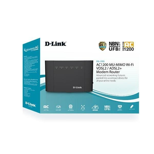 D-Link: AC1200 DSL-3785 Dual-Band Modem Router image