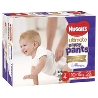 Huggies: Ulitmate Nappy Pants Jumbo - Size 4 Toddler Unisex (56)