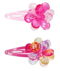 Pink Poppy: Shiny Bead Flower - Hair Clip (Assorted Designs)