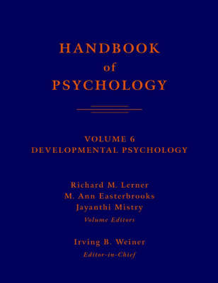 Handbook of Psychology: v. 6: Developmental Psychology image