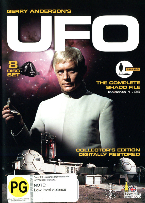 UFO - The Complete Shado File: Incidents 1-26 (8 Disc Set) on DVD