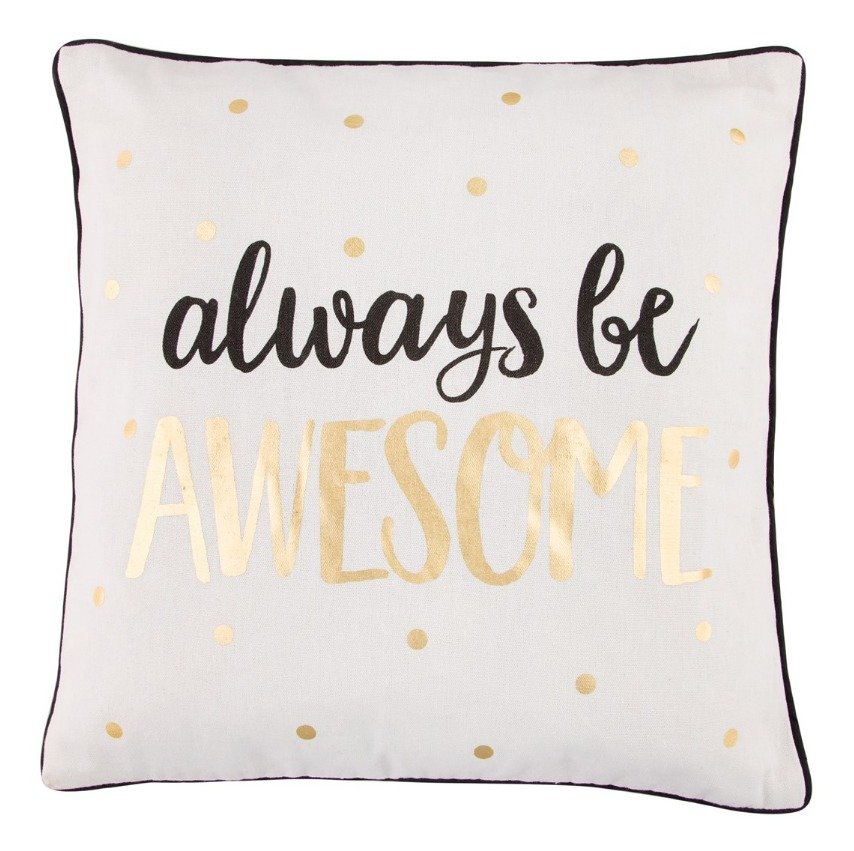 Metallic Monochrome Awesome Cushion image