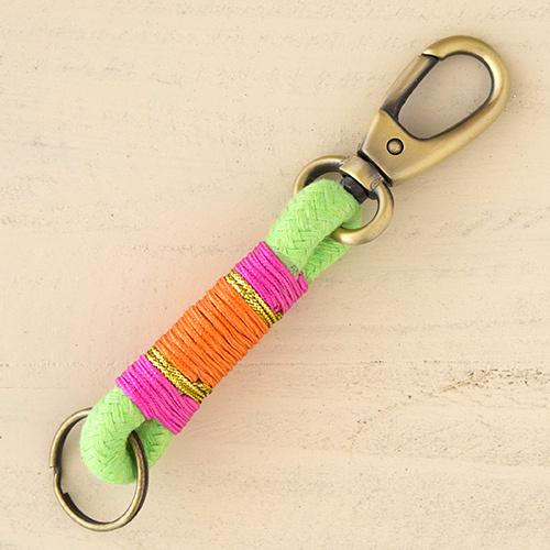 Natural Life: Rope Key Fob - Lime, Pink, Orange